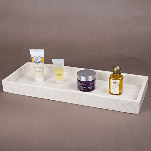 Creative Home Natural Champagne Marble Stone Vanity Tray