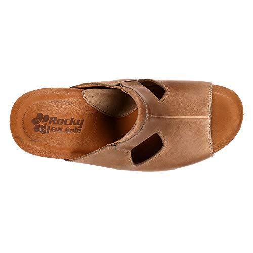 Leather Gore Slide Taupe Twin Joyful 4EurSole Women's Sandal 0v6U6Aw