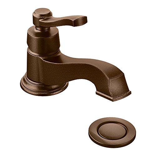 Lever Kitchen America Single Faucet (Moen S6202ORB Rothbury One-Handle Low Arc Bathroom Faucet, Oil Rubbed Bronze)