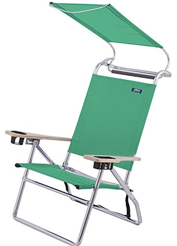 Deluxe 4 Position Aluminum High Seat Canopy Chair  Pkg/1