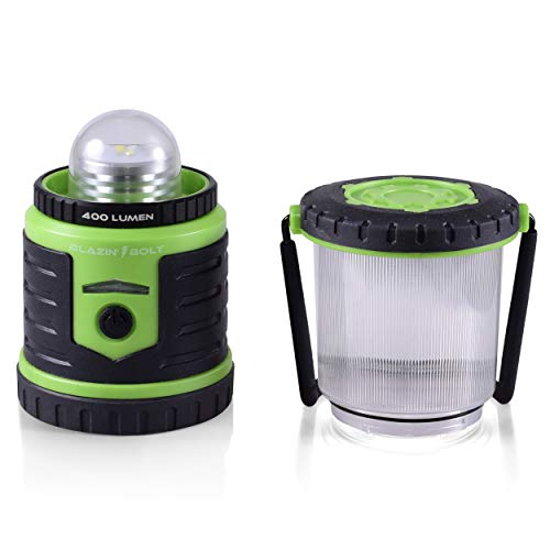 Blazin' Bison Brightest Rechargeable LED Lantern   400 Hour Runtime   Phone Charger   Hurricane, Emergency, Storm (400 Lumen, Green) by Blazin' Bison (Image #7)