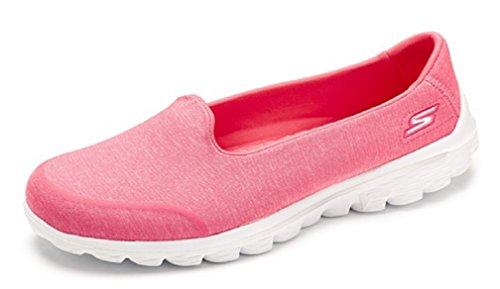 Skechers casa de Go Mujer Walk por Zapatillas rosa estar qCAqr6P