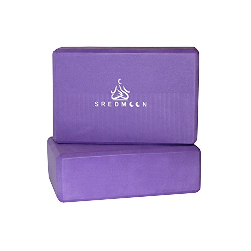 Yoga Block (set of 2) Slip Resistant, 3 x 6 x 9 Inch High Density EVA Foam Blocks to Support and Deepen Poses