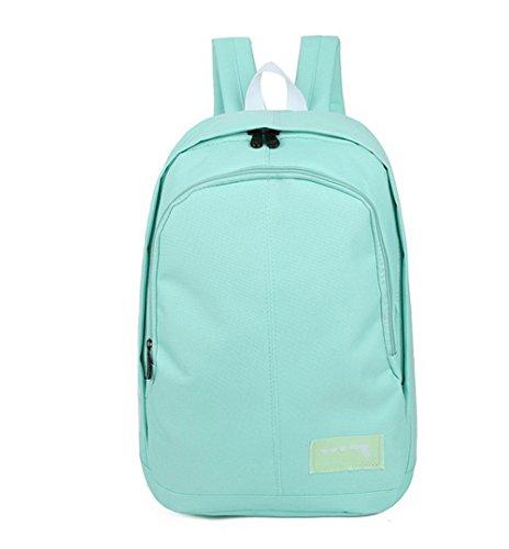 Allhqfashion Women Fashion Nylon Daypack Backpacks Hiking Backpacks, Fbubbd181252, Verdeclaro Azulclaro