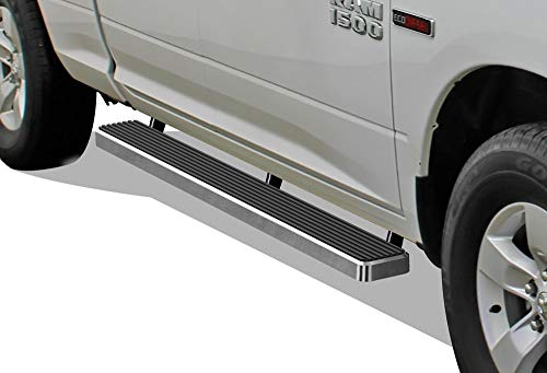 APS iBoard Running Boards 5 inches Custom Fit 2009-2018 Dodge Ram 1500 Quad Cab Pickup 4-Door (Nerf Bars Side Steps Side Bars) (2011 Dodge Ram 1500 Slt Quad Cab)