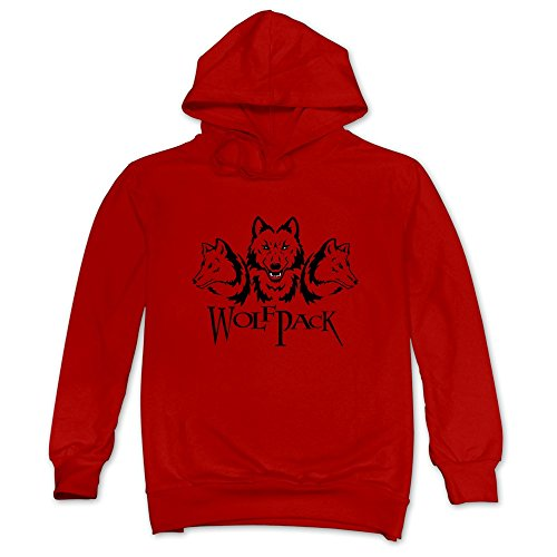 Mens 3 In One Group NC Wolfpack Hoodies Red 100% Cotton