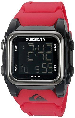 086702565276 - Quiksilver Men's QS/1020BKRD THE GROM Digital Chronograph Red Resin Strap Watch carousel main 0