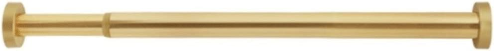 Teleskopstange ZZQGAN Duschstange Punschfreie Duschvorhangstange Gold Lagerexperte / Gardinenstange Schlafzimmer Closet Rod Size : 77-120cm Balkon Kleiderst/änder,