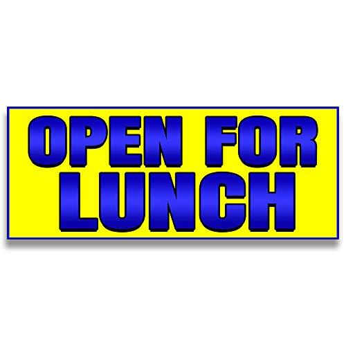 (Open for Lunch Vinyl Banner 5 Feet Wide by 2 Feet Tall)