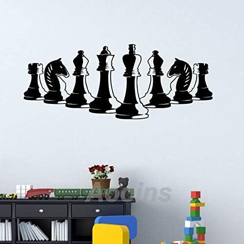 Piezas de ajedrez Tatuajes de pared Decoración de dormitorio Juego ...