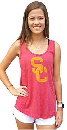 (289c apparel Ladies Southern Cal Trojans Worn SC Interlock Tank Top Shirt by (M=8/10))