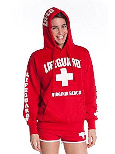LIFEGUARD Official Ladies Virginia Beach Hoodie Red ()