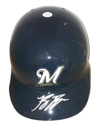 Ryan Braun Autographed/Signed Milwaukee Brewers Official Rawlings MLB Batting Helmet