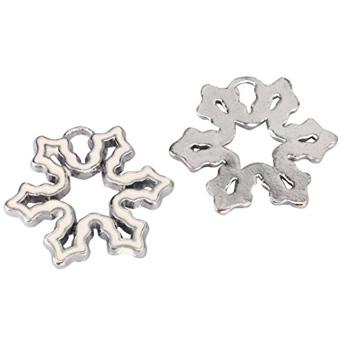 20 x Snow Flake Charms Beads 22mm Antique Silver Tone for Charms Bracelet Necklace Jewelry Findings #mcz1200