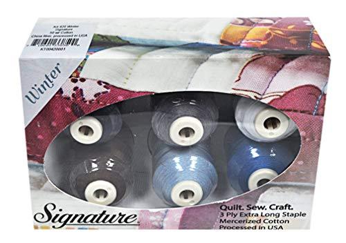 Cotton Mini King Spools - Signature 50 Cotton Mini King 6 Spool Gift Pack - Winter