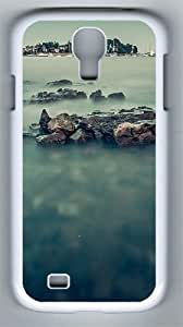 Samsung Galaxy S4 Case and Cover- Misty Sea And The Harbor PC Hard Case for Samsung Galaxy S4 / SIV/ I9500 White