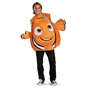 Disney Men's Finding Dory Nemo Costume, Orange, One Size