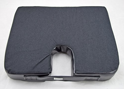 Noppor Wedge-shaped Leather Cooling Seat Cushion U Shape Foam Cushions for Car Sofa Office Chair