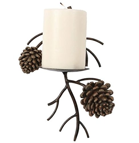 DEI Pinecone Pine Cone Candle Wall Sconce Lodge Home Decor 1 unit - Pine Iron