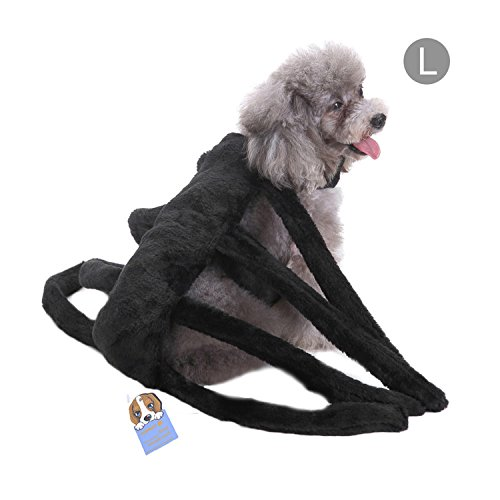 123 Halloween Costumes (Pet Halloween Costume Dog Spider Harness Clothes Props)