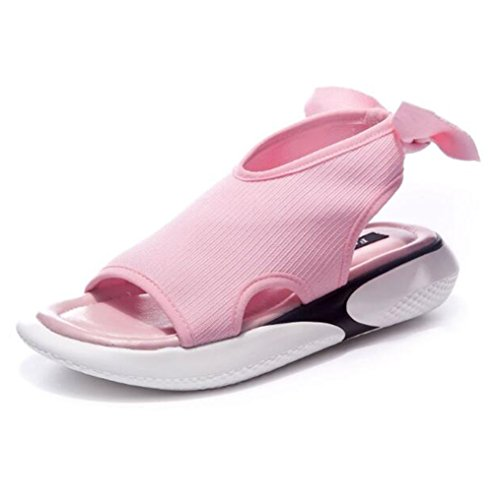 Casual Pink Sandals Sport Shoes All'aria Flat Sneaker Ladies Twgdh Confortevole Summer Aperta Running Escursionismo AqdOwWE
