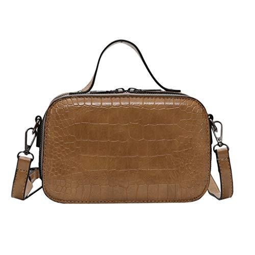 Outique Crossbody Bag, Women's Vintage Lightweight Crocodile Shoulder Bag Joker Messenger Bag Solid Color Bag