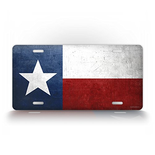 - Official Texas State Flag License Plate Grunge Antique Auto Tag The Lone Star State TX 6x12 Aluminum Vintage Sign