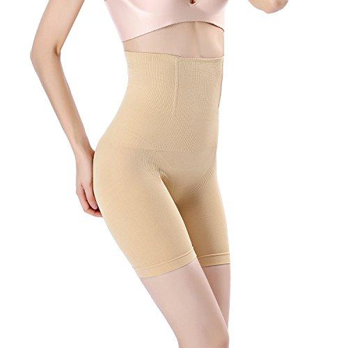 8cfe99cdf4 MUKATU Seamless High Waist Tummy Control Panties Bodyshorts Body Shaper  Thigh Slimmer Shapewear for Women