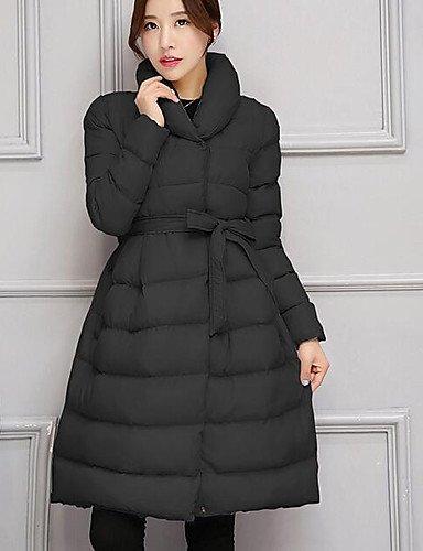 TT&SHANGYI Damen Daunen Mantel,Lang Einfach Lässig/Alltäglich Solide-Baumwolle Polypropylen Langarm , 2xl
