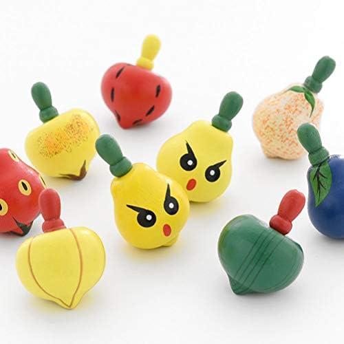 Toyvian Fruit Spinning Tops Juguetes Top pequeño Juguete para ...