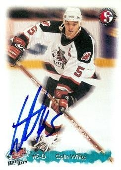 104fcd126b2 Colin White autographed Hockey Card (New Jersey Devils) River Rats Split  Second - Autographed