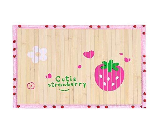FERZA petsuppliesmisc Mat Pet Mat Pet Products Pet Bed Blanket Summer Pet Bamboo Mat Dog Cat Kennel Ice (Strawberry)