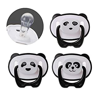 loweyuiroy Dummy Pacifier Nipple, New Pandaborn Baby Silicone Orthodontic Soother Dummy Pacifier Infant Nipple A