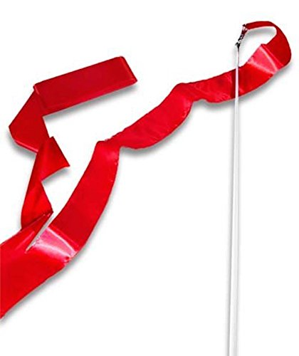 (Cannon Sports Olympic Style 5m Gymnastics Ribbon Wand, Red)