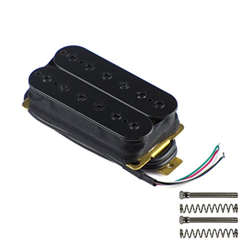 FLEOR Bridge Pickup Double Coil Humbucker Pickups for Electric Guitar - Pickup Black Electric