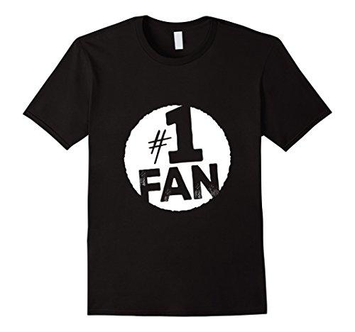 Mens #1 Fan T-Shirt Large Black