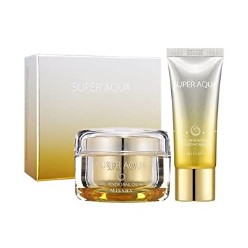 Amazon.com : MISSHA Super Aqua Cell Renew Snail Cream + Sleeping ...