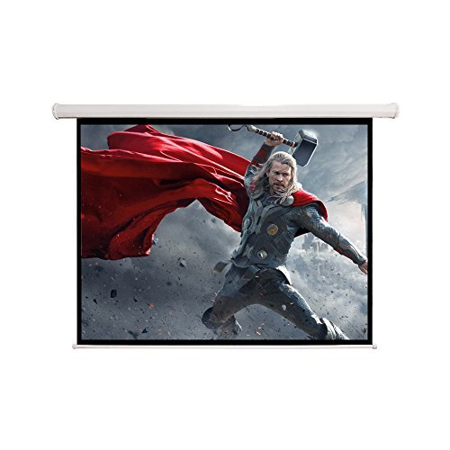 84*84* Retractable Projector Screen Manual Pull Down Screen –Home Theater/Cinema or Presentation Platform ,119''L by Everyday Big Deal