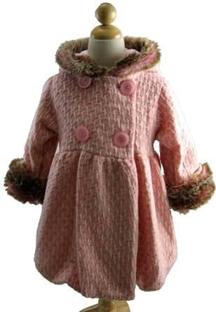 Amazon.com: Corky And Company Girls Mary Jayne Bubble Winter Coat Pink Tweed 4T: Dress Coats