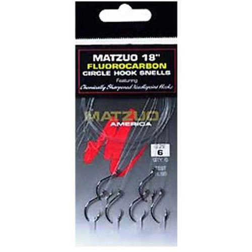 Matzuo Fluorocarbon Circle Snell Hook, 3/0 (Snelled Hooks)