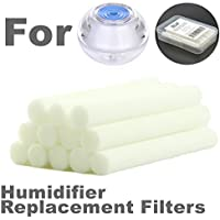 ZELAF [SGS Cert.] 12 Pack 2.38 x 0.31inch Replacement Sponge Filters Wick, Cotton Filter Sticks for Mini Portable Personal USB Humidifier & Personal USB Diffuser and More