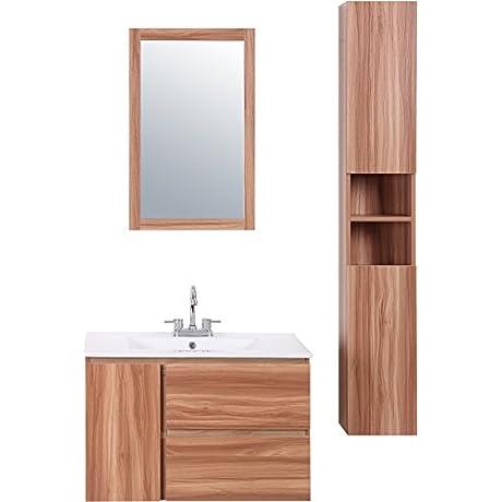 D Cor Living Bathroom Vanities Hanna 30 Wall Hung Vanity Set