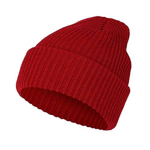 (WITHMOONS Ribbed Knit Beanie Winter Hat Slouchy Watch Cap GZ50019)