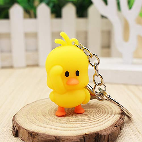 (Key Chains - New Cute Personality Small Yellow Duck Creative Key Chain Couple Boutique Pendant Keychain - by Mct12-1 PCs)
