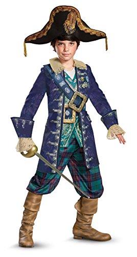 Disney POTC5 Barbosa Deluxe Costume,  Multicolor,  Small (Deluxe Pirate Child Costumes)