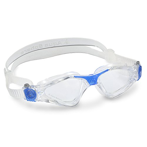 Aqua Sphere Kayenne Swim Goggles Small Fit with Clear Lens (Clear/Blue)