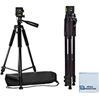 60 Pro Series Professional Camera Tripod for Canon, Nikon, Sony, Samsung, Olympus, Panasonic & Pentax + eCost Microfiber Cloth