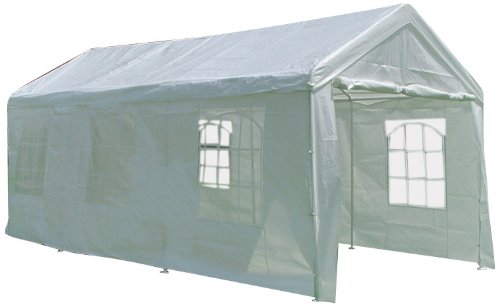 Palm Springs 10 X 20 Heavy Duty White Party Tent Gazebo with Sidewalls (10x20 White Party Tent Gazebo)