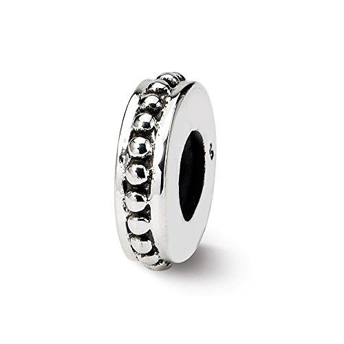 - 925 Sterling Silver Charm For Bracelet Stopper/spacer Bead Spacer Fine Jewelry Gifts For Women For Her