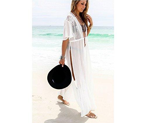 e404a9f655ba7 Image Unavailable. Women Chiffon Kimono Blouse Coat Boho Floral Cardigan  Jacket Beach Cover Up Top